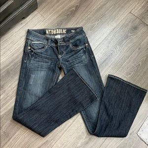 Hydraulic jeans metro flare. Size 5/6